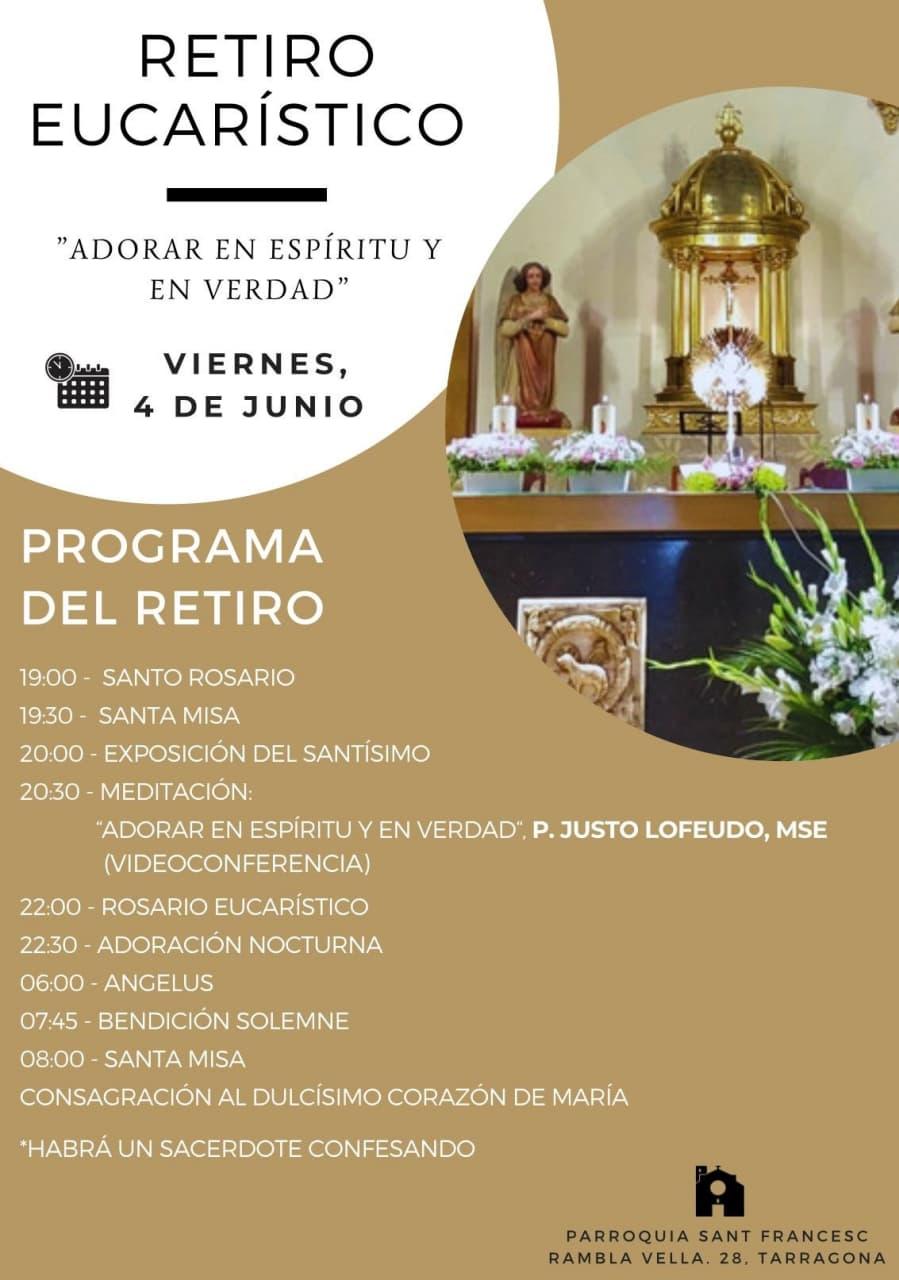 Misión en Tarragona para tener Capilla de Adoración Eucarística Perpetua